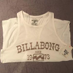 White Billabong Logo Tank